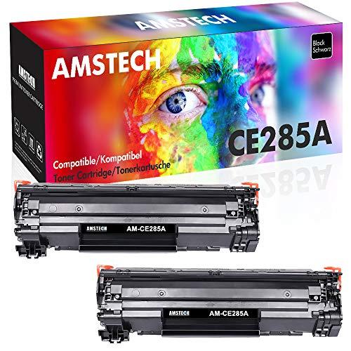 Amstech 2Pack Kompatibel für HP 85A 85X HP85A 285A CE285X CE285A CE285AD für HP Laserjet Pro P1102w P1102 1102w m1212nf MFP Laserjet 1100 1200 Toner Schwarz Druckerpatrone M1217nfw M1132 (Hp Drucker M1212nf)