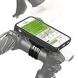 QuickMOUNT 3.0 Fahrrad Halterung für Apple iPhone SE / 5S / 5 Bike Kit mit Case und Regenhülle (Handyhalterung, Ladekabel- und Kopfhörer Anschluss, Touch Unterstützung) schwarz / matt