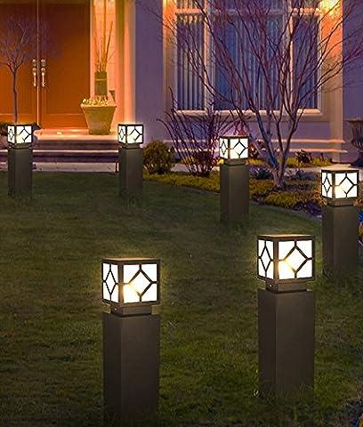 GUOQ Moderne Minimaliste Aluminium Luminaire Extérieur Lampadaire élégant Design Créatif Exterieur borne de jardin Fit Exterieur Jardin Allée Patio Terrasse Borne lumineuse gris L'éclairage extérieur Réverbères haut L'éclairage extérieur
