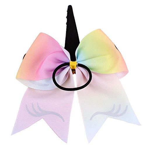 1 STÜCK Einhorn Jubeln Haar Bögen Bögen Pailletten Sparkly Glitter Haarspangen Zubehör Mädchen Frauen Kinder (Kostüm Jubeln Mädchen)