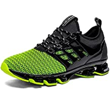 NEOKER Zapatillas Running Hombre Mujer Sneakers Calzado Deportivo Verano Aire Libre y Deporte Gimnasia Respirable Negro