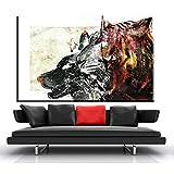 zgmtj Sinistra e Destra Cervello Differenze Tela Pittura Arte della Parete Educazione Poster Home Decor Canvas Print for Living Room