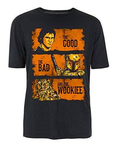 The Good The Bad and The Wookie Starwars Parodie T-Shirt - Mehrfarbig (S-XXL) Gr. L, Schwarz