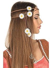 NEU Haarband braun, Peace & Blumen