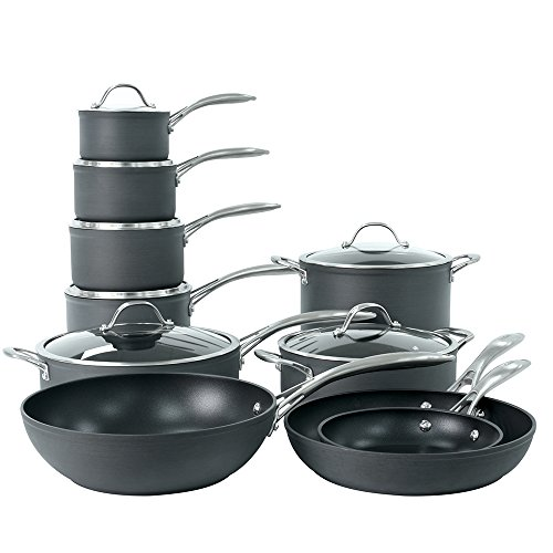 ProCook Professional Anodised Induction Non-Stick Cookware Set 10 Piece