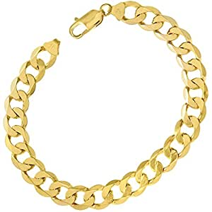 Citerna 22 cm/8.5 inch Length and 9 mm Width 20.6 g Curb 9 ct Yellow Gold Bracelet