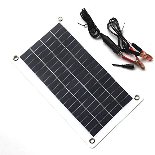 TOOGOO 10A 12V 24V Travail automatique PWM Controleur de charge solaire avec LCD Double USB Sortie 5 V Panneau de cellules solaires Regulateur de charge
