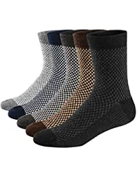 Acewin Calcetines de Lana Tejida Gruesa Cálida y Suave para Invierno y Otoño de Estilo Antiguo para Hombres o Mujers