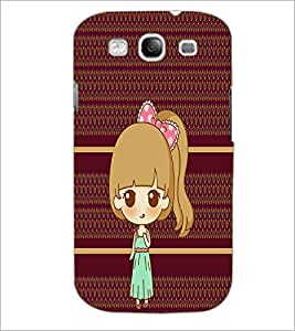 PrintDhaba Cute Doll D-3799 Back Case Cover for SAMSUNG GALAXY S3 (Multi-Coloured)