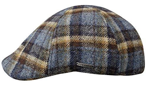 texas-woolrich-berretto-piatto-stetson-berretto-becco-anatra-flat-cap-m-56-57-blu