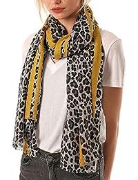 1bf3f2335b4 Style Slice Leopard Print Scarfs Women Summer - Lightweight Animal Print  Scarf - Large Long Oversized