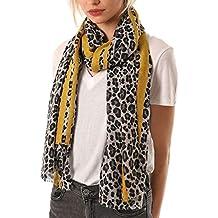 c220ae26b58fb2 Style Slice Damen Schal Leopardenmuster - Leopard Scarf - Leoprint Rot Gelb  Blau Pink Rosa -