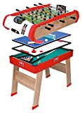 Smoby 640001 - Multifunktions-Tischfußball Powerplay 4-in-1