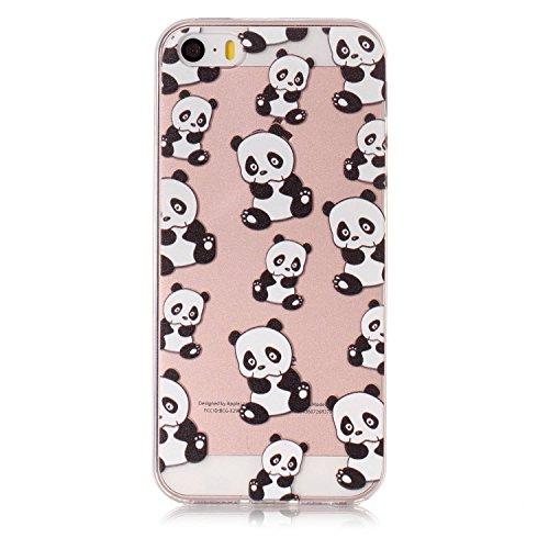 iPhone 5S Hülle, Voguecase Silikon Schutzhülle / Case / Cover / Hülle / TPU Gel Skin für Apple iPhone 5 5G 5S SE(Bunt Teppich 01) + Gratis Universal Eingabestift Katzenbär 13