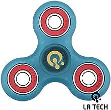 LA TECH - Tri Fidget Spinner de Dedo para Niños Adultos ADHDs Fidget Toy tipo Spinner Tri de Spinner Fidget juguete con híbrida de cerámica y acero Almacenamiento estrés Reducer - Ideal para Add TDAH miedo y autismo adultos niños - Multicolor