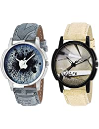 Kart Cabe Stylish Analogue Multi-Colour Set Of 2 Combo Watch For Men And Boy_Watch-13