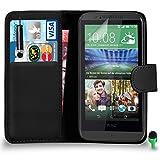 POUR HTC Desire 510 - SHUKAN Prime Cuir NOIR Portefeuille Cas Coque Couverture avec Mini Toucher Style Stylo VERT Cap Protecteur d'écran & Tissu de polissage