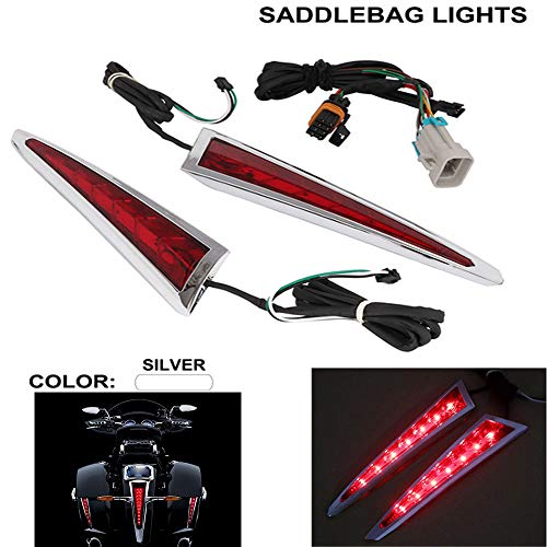 Rapide Pro Feu arrière arrière Garniture Sabertooth LED Sacoche de Selle pour '10-' 17 Victory Cross Country Tour Magnum modèles '12-' 13 Hard-Ball '10-' 14 Cross Roads