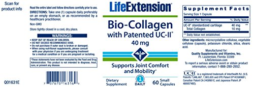 Life Extension, Bio-Collagen with Patented UC-II, 40 mg, 60 Small Caps