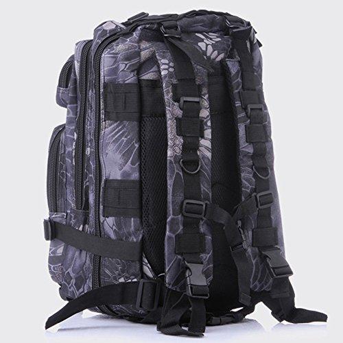 Pizz Annu-Outdoor Tactical Rucksack Sport Camouflage Tasche für Camping Reisen Wandern Trekking Black&Camouflage