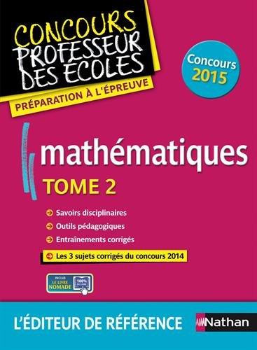 Mathématiques - Tome 2 - Epreuve écrite