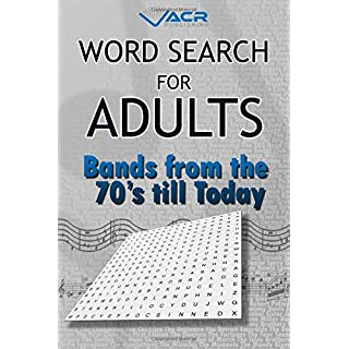 Word Search For Adults: Bands from the 70's till today
