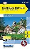 Deutschland Outdoorkarte 37 Fränkische Schweiz 1 : 35.000: Wiesenttal, Pottenstein. Wanderwege, Radwanderwege, Nordic Walking (Kümmerly+Frey Outdoorkarten Deutschland) -