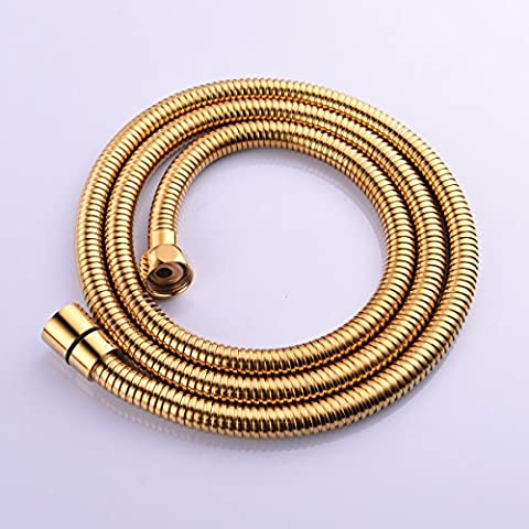 CIENCIA 2m(78-Inch)Anti-kink Flexible Gold Shower Hose Stainless Steel with Solid