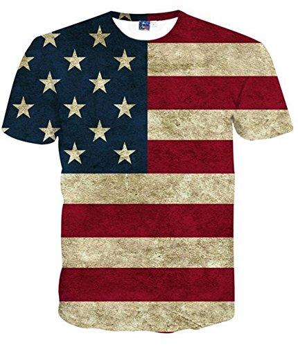 ocasionales-3d-estrellas-y-rayas-manga-corta-camiseta-camisetas-de-los-hombres-l