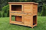 Miweba Hasenstall My Animal MH-20 Doppelstockkäfig Hamsterkäfig Kaninchenkäfig Hasenkäfig Kaninchenstall 2 Ebenen