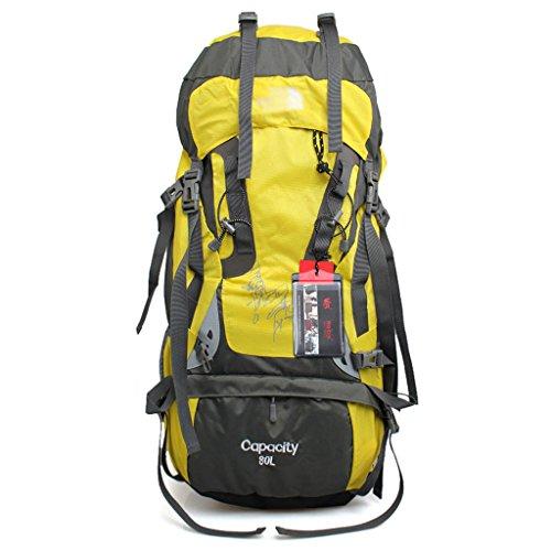 Im Freien bewegliche Paket Rucksackbeutel Männer und Frauen Tasche mit großer Kapazität Alpinismus Gelb