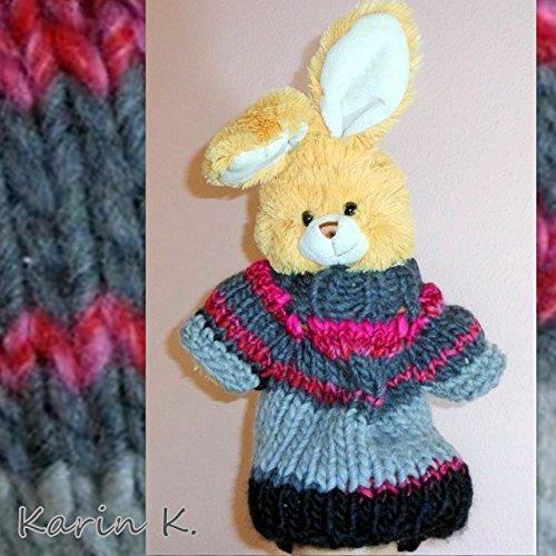 RAGLAN- PULLUNDER für ein Baby in der Größe 50-62 in Hellgrau, Grau, Anthrazit und Pink aus Merino von Lana Grossa, Colorblocking für das Baby