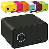 MySafe Tresor Design Safe 230 x 430 x 350 mm (HxBxT) Zahlencode Schloss verschiedene Farben grün, lila, pink, blau/wei, Schwarz