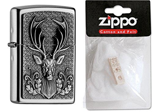 zippo-15486-accendino-motivo-cervo-con-cartuccia-di-ricambio-e-ovatta-collezione-2016-articolo-numer