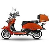 Retro Roller Easy Cruiser Chrom 50 ccm orange Motorroller Scooter Moped Mofa Easycruiser
