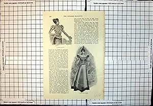 Le Nouveau Tailleur de Robe de Thé de Robe de Bille Chemisier Antique d'Impression de Joli A Établi le Costume
