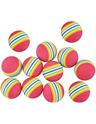 ASIV 12 piezas Bolas de golf recicladas, Bolas de práctica de espuma para interior y patio trasero