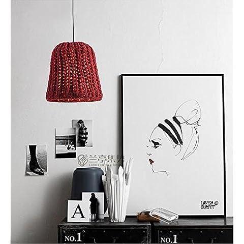 FUMIMID Restaurante nórdico lámpara dormitorio ideas niño araña lámpara felpa diseño lindo con 350 * 170 (mm) , A