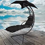 Azuma Black Dream Chair Swing Hammock Garden Furniture Sun Seat Relaxer / Canopy