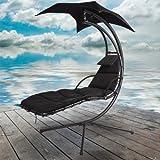 Azuma Black Dream Chair Swing Hammock Garden Furniture Sun Seat Relaxer / Canopy