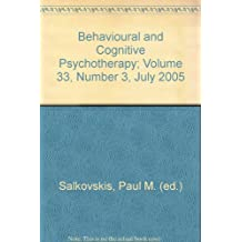 Behavioural and Cognitive Psychotherapy; Volume 33, Number 3, July 2005