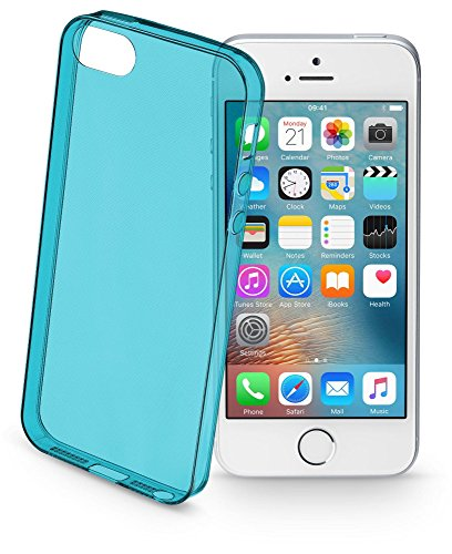 Cellularline Color Case - iPhone SE/5S/5 Custodie colorate e ultrasottili Rosa VERDE