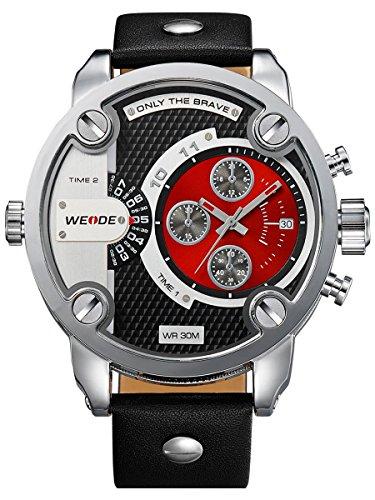 alienwork-dualtime-montre-quartz-fuseaux-horaires-multiples-quartz-xxl-oversized-cuir-rouge-noir-osw