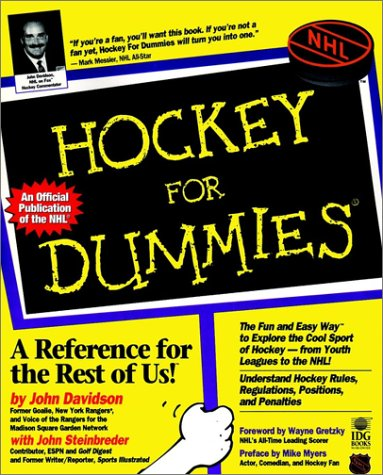 Hockey for Dummies (Hockey for Dummies, 1st Ed) por John Davidson