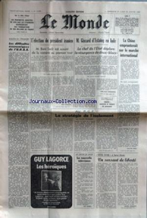 MONDE (LE) [No 10885] du 27/01/1980 - IMMOBILIER SUR LA COTE D'AZUR - LES DIFFICULTES ECONOMIQUES DE L'U.R.S.S. - L'ELECTION DU PRESIDENT IRANIEN - M. BANI SADR - G. D'ESTAING EN INDE - LA CHINE EMPRUNTERAIT SUR LE MARCHE INTERNATIONAL - INDE - PAUVRETE ET VOLONTE DE PUISSANCE - AU P.C.F. - LA STRATEGIE DE L'ISOLEMENT PAR DUHAMEL - SAINT-DENIS - TETE D'OR. par Collectif
