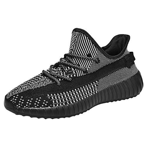 CUTUDE Herren Urnschuhe Bequem Mesh Ultra-Leicht Atmungsaktives Mesh-Herren-Slip Outdoor-Schuhe Sneakers Wilde Freizeit Laufschuhe (Grau, 39 EU)