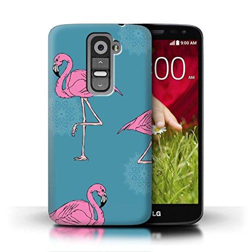 Stuff4® Hülle/Case für LG G2 Mini/D620 / Mandala/Teal Muster/Netter Flamingo Karikatur Kollektion