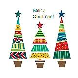 Demiawaking Vetrofanie di Natale Adesivi da Parete Adesivi per Vetri del Negozio Decorazione di Natale Decorazione del Soggiorno di Capodanno (Albero di Natale)