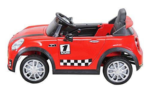 RC Auto kaufen Kinderauto Bild 5: Actionbikes Motors Kinder Elektroauto Mini Cooper Eva Reifen Ledersitz Kinderfahrzeug Kinderauto in vielen Farben (Rot)*
