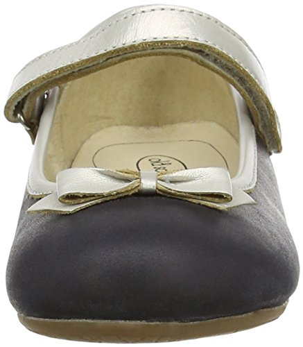 Old Soles Praline Bow, Mary Jane fille Multicolor (Distressed Black/Chalk)